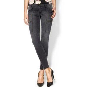 J Brand Kassidy Zipper Cargo Jeans Mid Rise Skinny